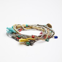 Free People Womens Stack 'Em Up Beaded Bracelet -