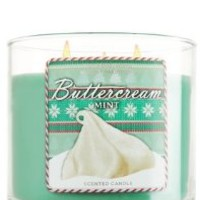 Bath and Body Works Buttercream Mint 3 wick Candle