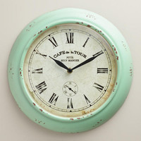 Aqua Quinn Bistro Clock - World Market