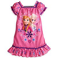 Anna and Elsa Nightshirt for Girls - Frozen