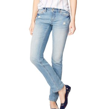 Aeropostale Bayla Skinny Light Wash Jean - Light Wash, 000 S