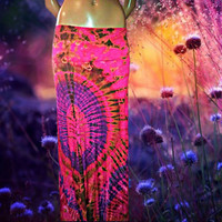 Wildflower Tie Dyed Maxi Skirt