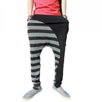 Magiftbox Men's Zebra Stripe Fashion Casual Harem Squirrel Party Pants K69_Black_33