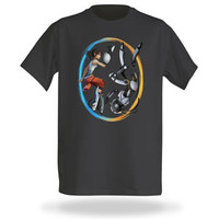 Portal 2 Double Identity T-Shirt - Charcoal,