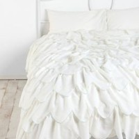 UrbanOutfitters.com > Stiched Scallop Ruffle Duvet Cover