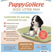 "Puppy Go Here Dog Litter Pan Recycled Gray 24"" X 20"" X 5"" Gray Will Vary in Shade because it is recycled plastic"
