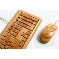Amazon.com: 100% Bamboo Handcrafted Keyboard: Computers &amp; Accessories