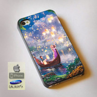 Disney Tangled Lights Art - Print on Hard Plastic, available for iPhone and Samsung Galaxy. Choose for your device