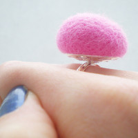Pastel Pink Ring - Needle Felted Baby Pink Ring | Luulla