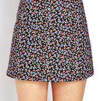 Retro Floral Mini Skirt