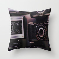 Vintage Camera Throw Pillow by liberthine01