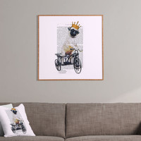 Coco de Paris Pug On Bicycle Framed Wall Art