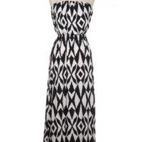 Black Aztec Maxi Dress