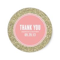 GLITTER & GOLD | WEDDING FAVOR LABELS