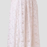 Meringue Lace Midi Skirt