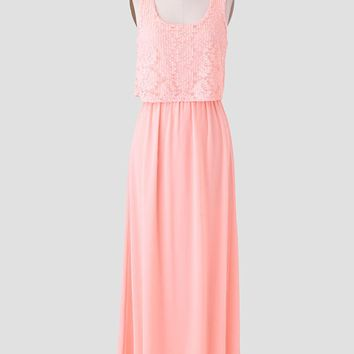 Afternoon Waltz Tiered Maxi Dress
