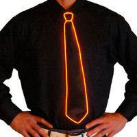 Red Light Up Tie - Electric Styles