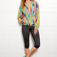 Neon Pop Half-Zip Track Jacket