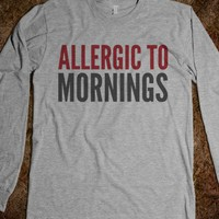 ALLERGIC TO MORNINGS LONG SLEEVE T-SHIRT (IDB30-2317)