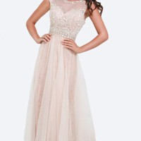 Lace Soft Tulle Gown by Tony Bowls Evenings
