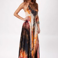 THE HUNTRESS TIE DYE MAXI DRESS