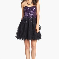 Sean Collection Embellished Tulle Fit & Flare Dress