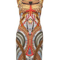 Alexander Mcqueen Samurai Print Dress - Feathers - farfetch.com