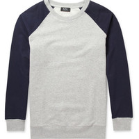 A.P.C. - Contrast-Sleeve Loopback Cotton-Jersey Sweatshirt | MR PORTER