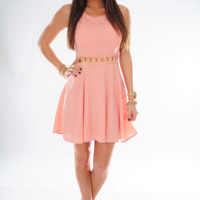 Left With My Heart Dress: Peach