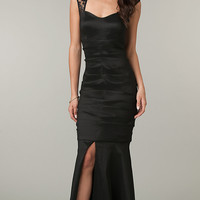 Sleeveless Floor Length Black Dress