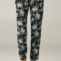 FLORAL PRINT PANTS - BLUES