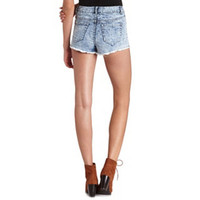 TRIBAL ACID WASH DENIM SHORT