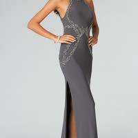 Floor Length Sleeveless Open Back JVN by Jovani Dress