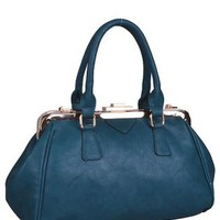 Blue Docc Top-Handle Handbag