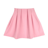 Pintuck Slim High Skirt