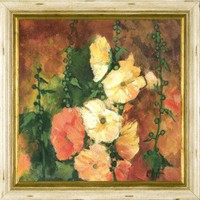 Phoenix Galleries Hollyhocks 2 Framed Print - HPM134 - All Wall Art - Wall Art & Coverings - Decor
