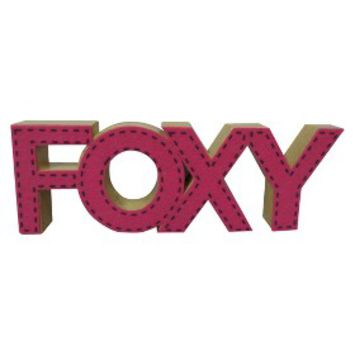 Valentine 39 S Day Foxy Wood Word Decor From Target Epic