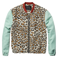 bomber jacket in animal print - Scotch & Soda