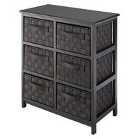 Whitmor Woven Strap 6 Drawer Chest