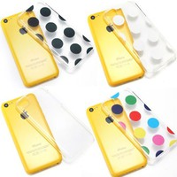 Bargain Bulk Pack of Cases. Etui Le Bon (tm) case for iPhone 5C. Includes the following cases. 1 x Clear, 1 x Multi colored Polka Dots, 1 x Black Polka Dots and 1 x White Polka Dots