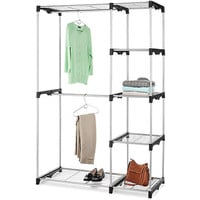Walmart: Whitmor Double Rod Freestanding Closet, Silver/Black