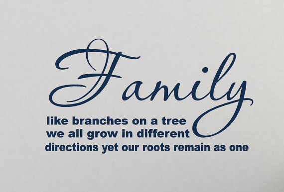 Like Branches On A Tree Quote: Wall Decals Family Like Branches On A From HouseHoldWords