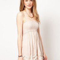 Free People | Free People Embroidered Strappy Sundress at ASOS