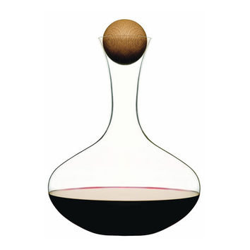 Penedes Decanter with Round Wood Closure