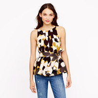 COLLECTION PEPLUM TOP IN CHOCOLATE COSMOS