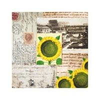 Sunflower Ancient Rome Italian Collage Art