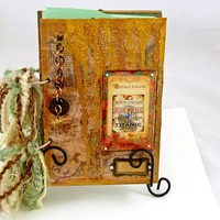 Titanic Travel journal handmade smash book mixed media collage         | LDPhotography - Paper/Books on ArtFire