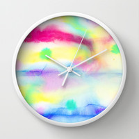 Fete (Origin) Wall Clock by Jacqueline Maldonado