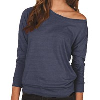 Ladies Eco Jersey Slouchy Pullover