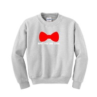 Bow Ties Are Cool Youth Crewneck Sweatshirt Large Ash